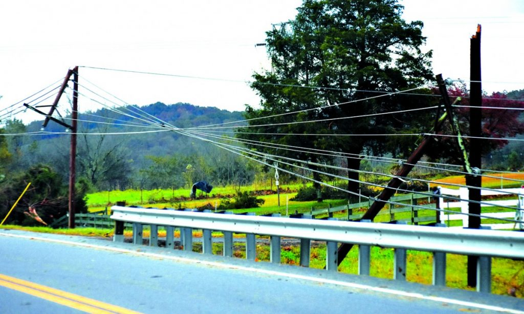 Twisted power lines